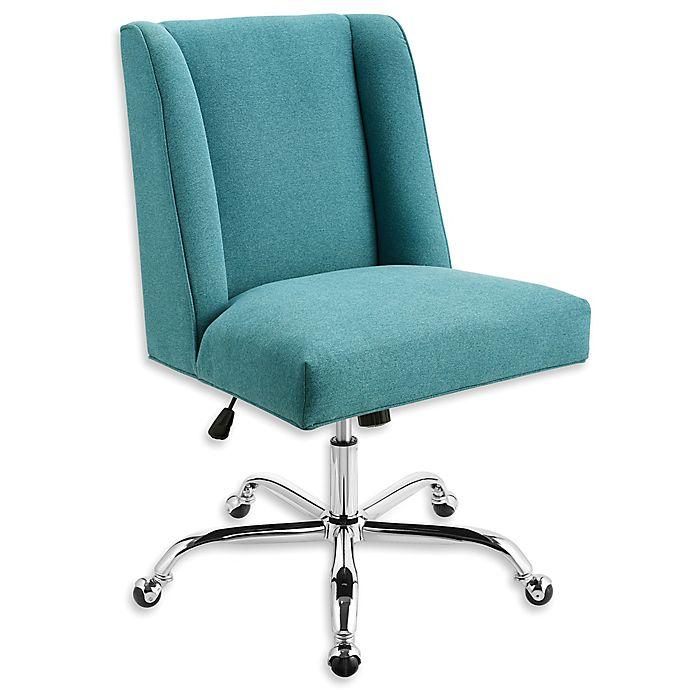 Alternate image 1 for Linon Home Draper Office Chair in Mermaid
