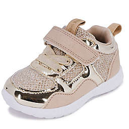 Nine West Size 0-3M Gold Shimmer Sneakers