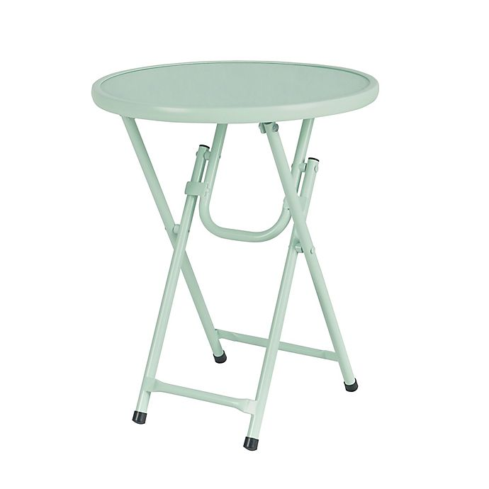 Alternate image 1 for Destination Summer Folding Metal Patio Accent Table