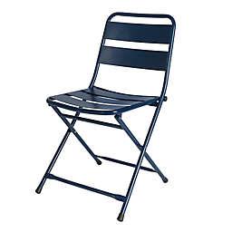 Destination Summer Folding Bistro Chair in Navy