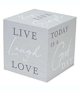 Cubo decorativo de madera Live Laugh Love