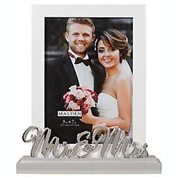 """Mr. & Mrs."" 5-Inch x 7-Inch Platform Picture Frame"