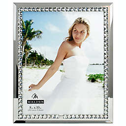 8-Inch x 10-Inch Mirrored Glass and Jewels Picture Frame