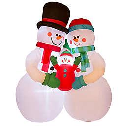 Glitzhome® 8-Foot Pre-Lit Inflatable Snowman Decoration