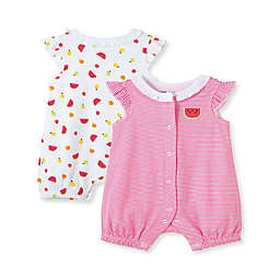 Little Me® Size 9M 2-Pack Fruit Rompers in Red/White