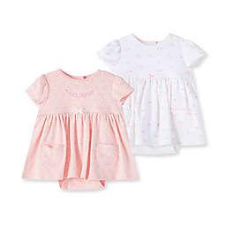Little Me® 3-Piece Garden Bodysuit Dress and Headband Set in Pink