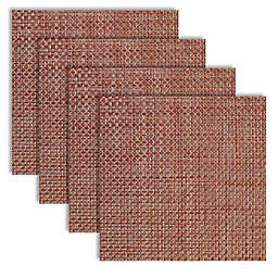 Bistro 14-Inch Square Placemats in Sangria (Set of 4)