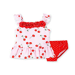 Little Me® Cherries 2-Piece Swimsuit in Pink/Red