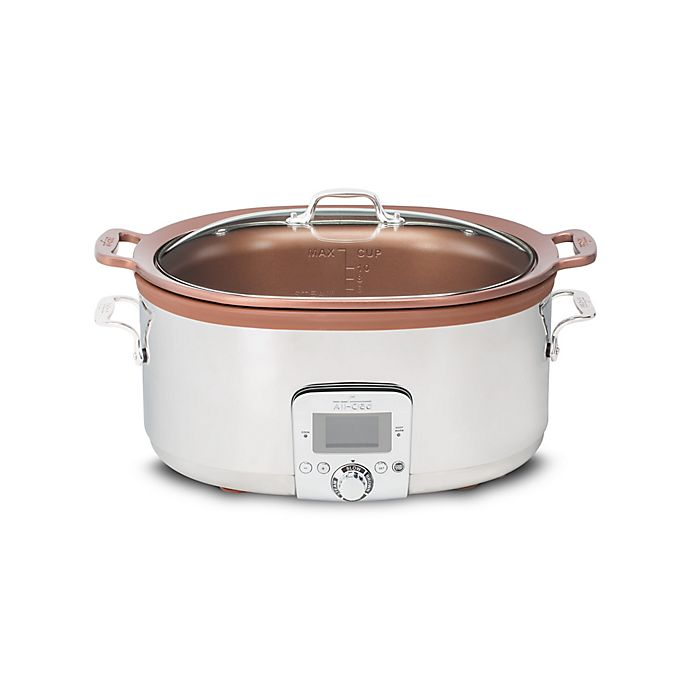 Alternate image 1 for All-Clad Gourmet 7 qt. Slow Cooker with Aluminum Insert in Silver