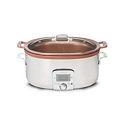All-Clad Gourmet 7 qt. Slow Cooker with Aluminum Insert in Silver