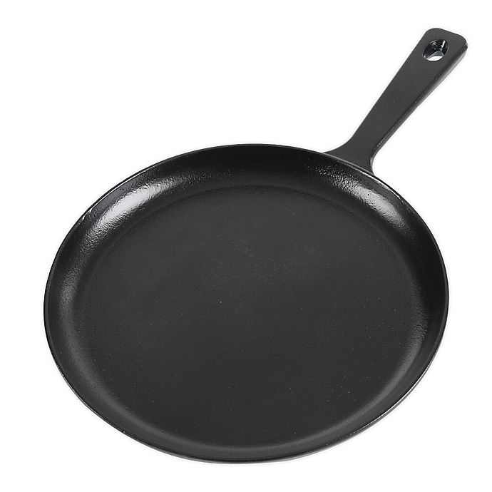 Alternate image 1 for Our Table™ 10-Inch Preseasoned Cast Iron Round Griddle in Black