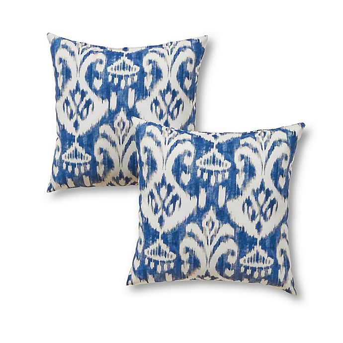 Alternate image 1 for Greendale Home Fashions Square Indoor/Outdoor Throw Pillows (Set of 2)