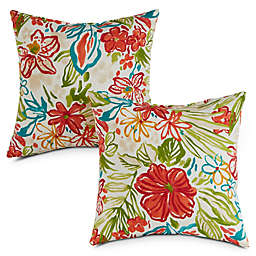 Greendale Home Fashions Square Indoor/Outdoor Throw Pillows in Light Blue Breeze (Set of 2)