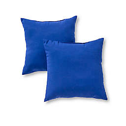 Greendale Home Fashions Solid Square Outdoor Throw Pillows (Set of 2)