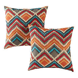Greendale Home Fashions Square Indoor/Outdoor Throw Pillows in Surreal (Set of 2)