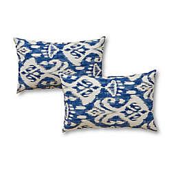 Greendale Home Fashions 2-Piece Outdoor Lumbar Pillow Set