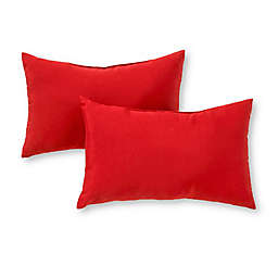 Greendale Home Fashions Solid Outdoor Lumbar Pillows (Set of 2)