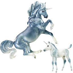Breyer Traditional Series 2-Piece Cascade and Caspian Unicorn Figurine Set