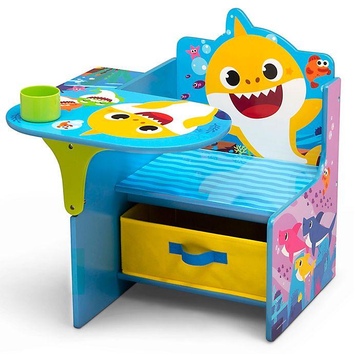 Alternate image 1 for Delta Children Baby Shark Chair Desk with Storage Bin