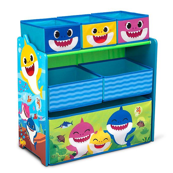 Alternate image 1 for Delta Children® Baby Shark™ Design & Store Toy Storage Organizer in Blue