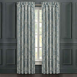 J. Queen New York™ Nicolette 2-Pack 84-Inch Rod Pocket Window Curtain Panels in Blue