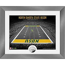 North Dakota State University Bison Art Deco Stadium Silver Coin Photo Mint