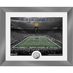University of Notre Dame Fighting Irish Art Deco Stadium Silver Coin Photo Mint