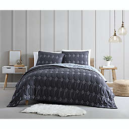 Ambrose 3-Piece Reversible Full/Queen Quilt Set in Grey