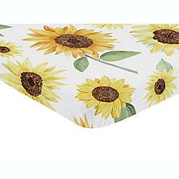 Sweet Jojo Designs® Sunflower Mini Fitted Crib Sheet in Yellow/Green