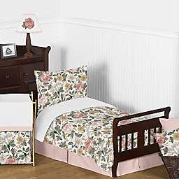 Sweet Jojo Designs® Vintage Floral 5-Piece Toddler Bedding Set in Pink/Green