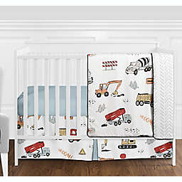 Sweet Jojo Designs® Construction Truck 4-Piece Crib Bedding Set in Red/Blue