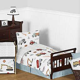 Sweet Jojo Designs® Construction Truck 5-Piece Toddler Bedding Set in Red/Blue