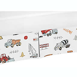 Sweet Jojo Designs® Construction Truck Crib Skirt in Red/Blue Trucks