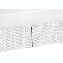 Sweet Jojo Designs® Construction Truck Crib Skirt in Grey/White Tread