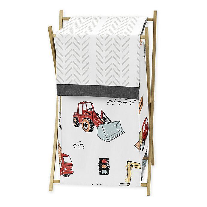 Alternate image 1 for Sweet Jojo Designs® Construction Truck Laundry Hamper in Red/Blue