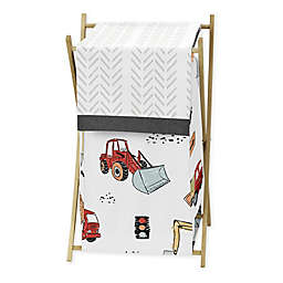 Sweet Jojo Designs® Construction Truck Laundry Hamper in Red/Blue