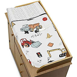 Sweet Jojo Designs® Construction Truck Changing Pad Cover in Red/Blue