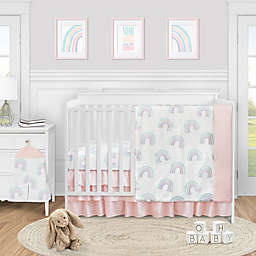 Sweet Jojo Designs® Rainbow 4-Piece Crib Bedding Set