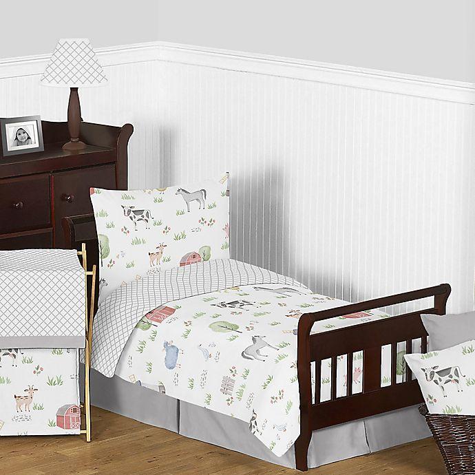Alternate image 1 for Sweet Jojo Designs® Farm Animals 5-Piece Toddler Bedding Set