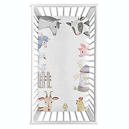 Sweet Jojo Designs® Farm Animals Photo Op Fitted Crib Sheet