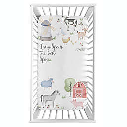 Sweet Jojo Designs® Farm Animals Life Photo Op Crib Sheet