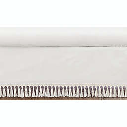 Sweet Jojo Designs® Boho Fringe Crib Skirt in Ivory