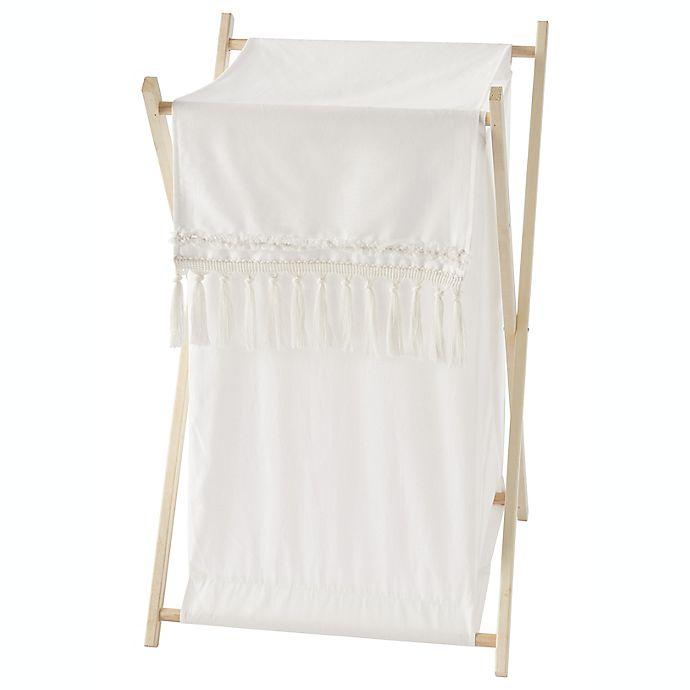 Alternate image 1 for Sweet Jojo Designs® Boho Fringe Laundry Hamper in Ivory
