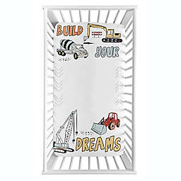 Sweet Jojo Designs® Construction Truck Photo Op Fitted Crib Sheet in Red/Blue