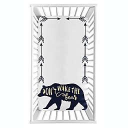 Sweet Jojo Designs® Big Bear Photo Op Fitted Crib Sheet in Navy/Gold