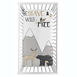 Sweet Jojo Designs® Woodland Friend Fitted Crib Sheet in Beige/Grey