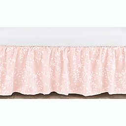 Sweet Jojo Designs® Lace Crib Skirt in Pink/White