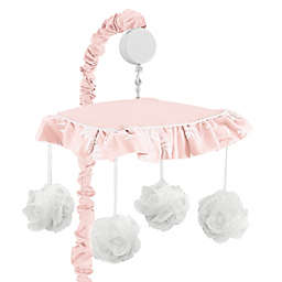 Sweet Jojo Designs® Lace Musical Mobile in Pink/White<br />