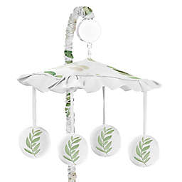 Sweet Jojo Designs® Watercolor Botanical Leaf Musical Mobile in Green/White