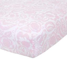 aden + anais™ essentials Damsel Fitted Crib Sheet in Pink
